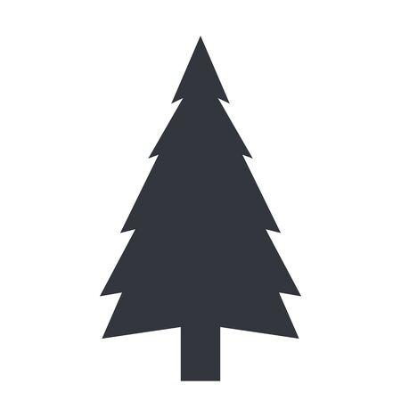 Vector Black Pine Tree Icon