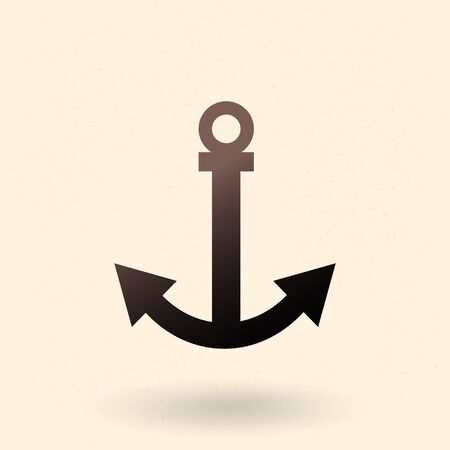 Anchor Icon. Vector Black Silhouette Illustration.