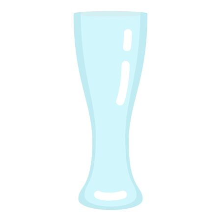 Vector Flat Color Icon - Empty Beer Glass