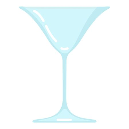 Vector Flat Color Icon - Empty Cocktail Glass  イラスト・ベクター素材