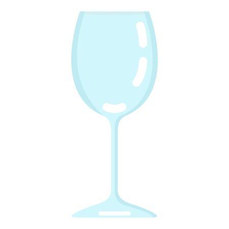 Vector Flat Color Icon - Empty Wine Glass