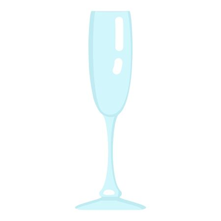 Vector Flat Color Icon - Empty Champagne Glass  イラスト・ベクター素材