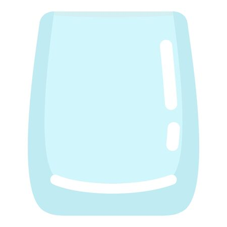 Vector Flat Color Icon - Empty Whiskey Glass