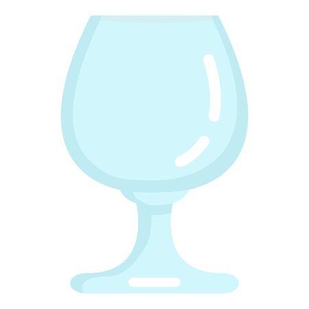 Vector Flat Color Icon - Empty Cognac Glass  イラスト・ベクター素材