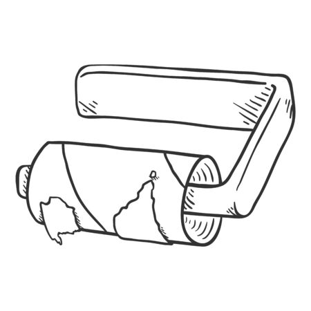 Sketch Toilet Paper Sleeve. Toilet Paper Run Out