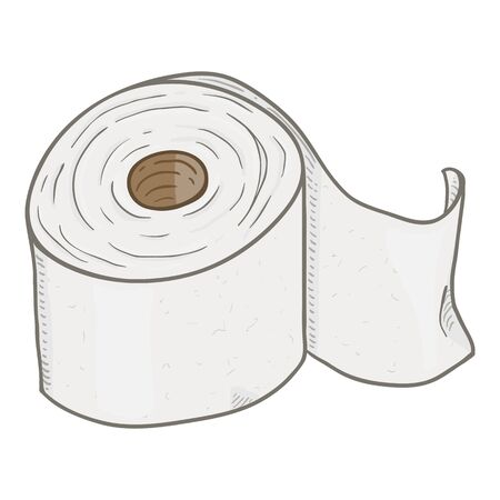 Vector Cartoon Toilet Paper Roll Stock Illustratie