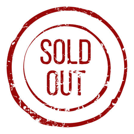 Vector Single Circle Red Stamp - Sold Out