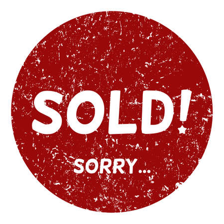 Vector Single Circle Red Stamp - Sold, Sorry. Ilustracja