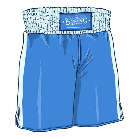 Vector Cartoon Blue Boxing Shorts