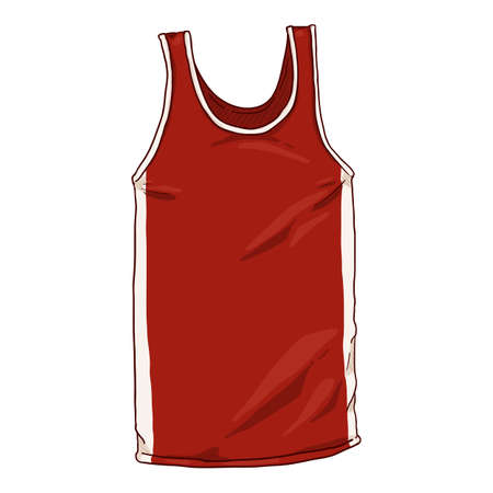 Vector Cartoon Red Boxing Tank Shirt