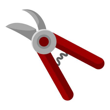 Garden Shears. Vector Pruner Flat Color Icon
