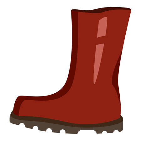 Rubber Boots Color Icon. Shoes for Rainy Weather