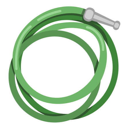 Hose Icon. Vector Color Flat Illustration of Hosepipe Vectores