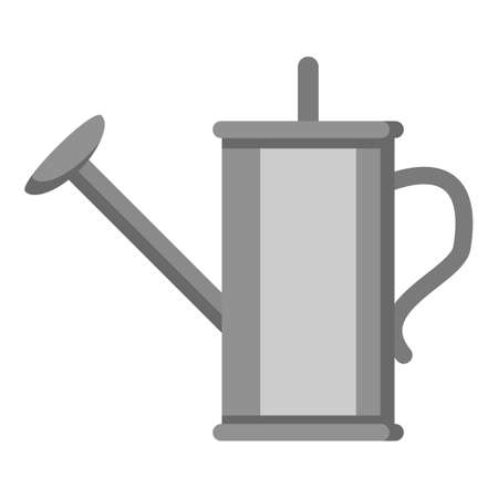 Watering Can Color Flat Icon on White Background