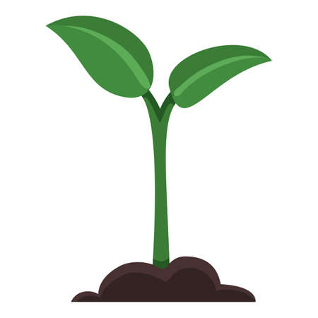 Vector Sprout Icon. Sprig Outline Pictogram
