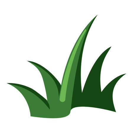 Vector Grass Color Flat Icon on White Background