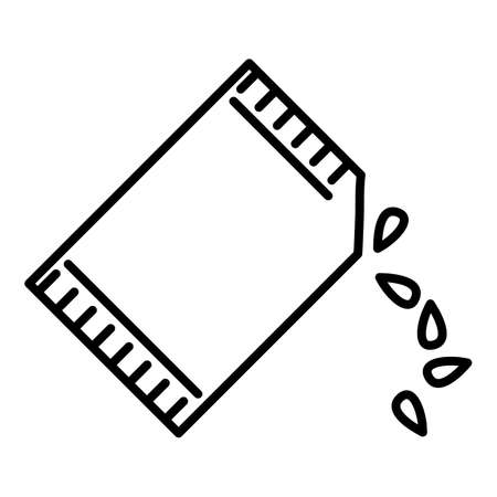 Package of Seeds. Sowing Outline Icon.