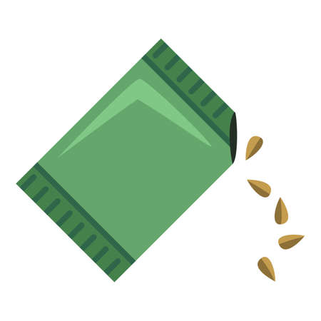 Package of Seeds. Sowing Color Flat Icon.