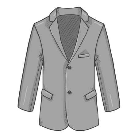 Gray Blazer. Suit Jacket Vector Cartoon Illustration. Vectores