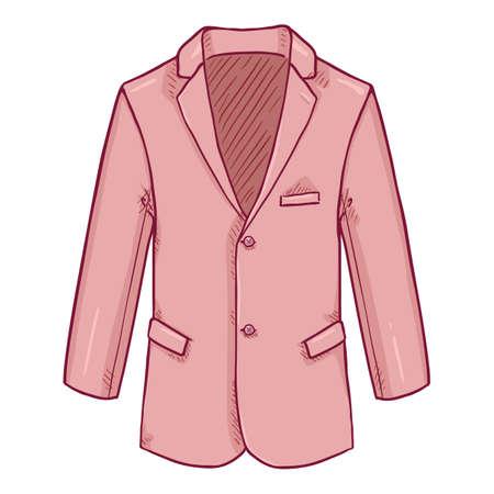 Pink Blazer. Suit Jacket Vector Cartoon Illustration.
