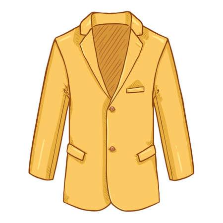 Yellow Blazer. Suit Jacket Vector Cartoon Illustration. Vectores
