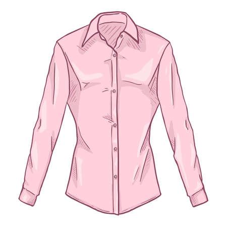 Vector Cartoon Pink Women Classic Shirt