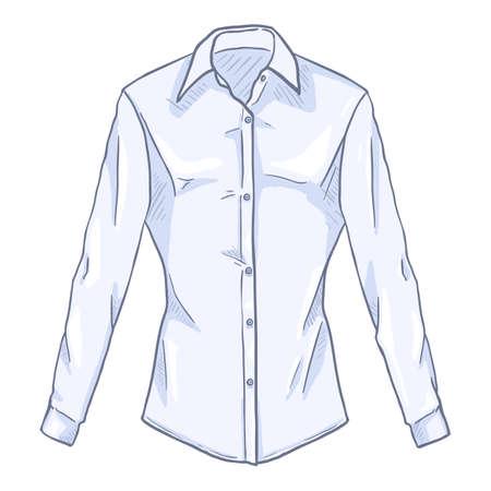 Vector Cartoon White Women Classic Shirt