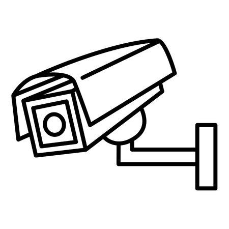 CCTV Outline Icon. Vector Security Camera Symbol Vectores