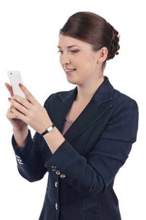 Young businesswoman with cellphone Stock Photo - 17005628
