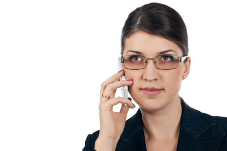 Businesswoman with a glasses Stock Photo - 17007818