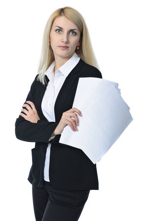 Businesswoman with a documents Stock Photo