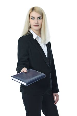 Businesswoman with a notebook Stock Photo