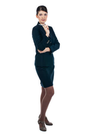 Businesswoman with a pen Stock Photo - 17015966