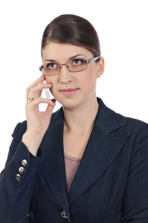 Businesswoman with a cellphone Stock Photo - 17015972