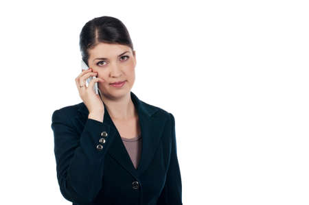 Businesswoman with a cellphone Stock Photo - 17015973