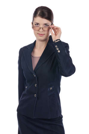 Businesswoman with a glasses Stock Photo - 17015970