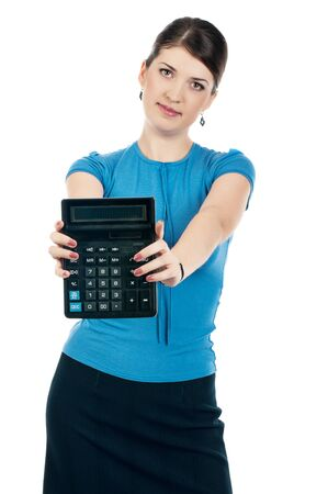 Businesswoman with a calculator Stock Photo - 17015974