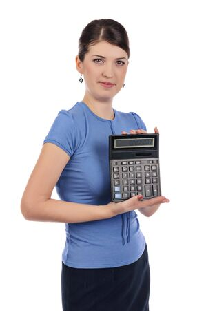 Businesswoman with a calculator Stock Photo - 17015969