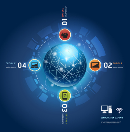 element template: Communication elements