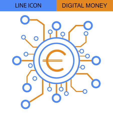 Digital Money Line vector icon?