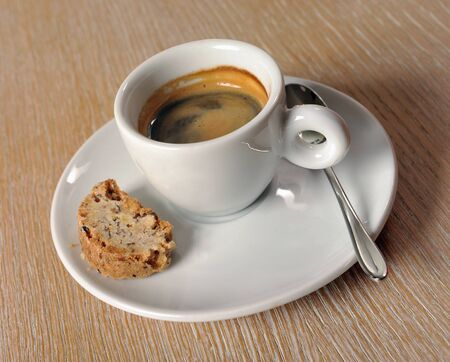 espresso cup on the table Stock Photo - 13503941