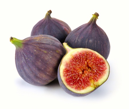 figs: fresh figs on a white background