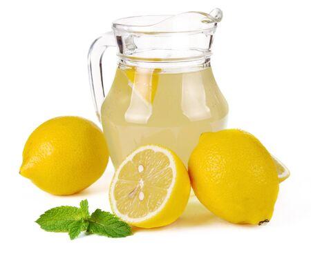 lemon juice in a jug and fruit