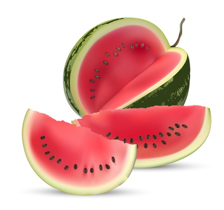 melon: Watermelon isolated on white background