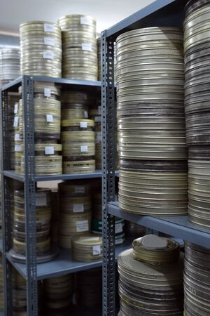 films were stored in the archive photo