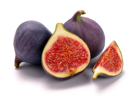 fresh figs on a white background photo