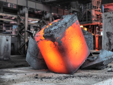steel ingot in the workspace photo