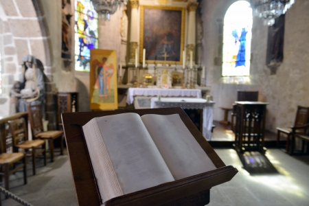 worship service: Bible in the Cathedral