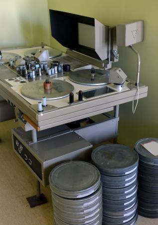 image editing: apparatus for retouching film Stock Photo