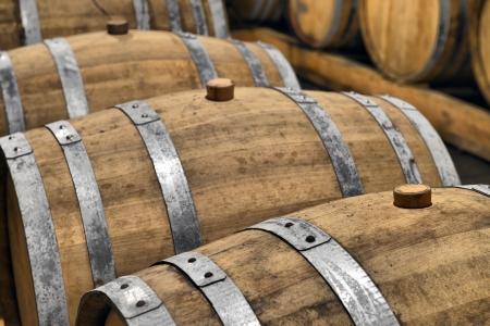 casks: Casks in wine cellar